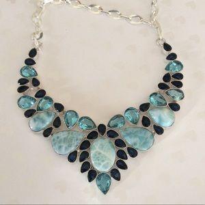 Jewelry - Amazing Larimar & Blue Topaz Gemstone Necklace